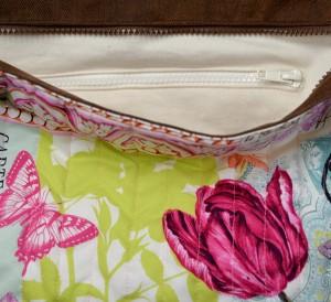 sac Barracuda tulipe rose poche intérieure