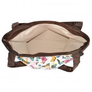 sac Barracuda papillons menthe chocolat intérieur