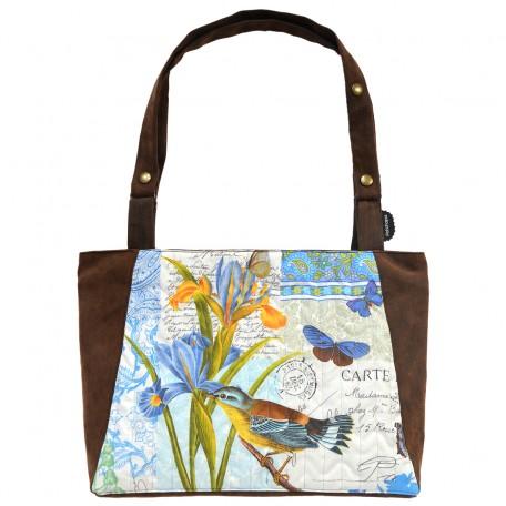 sac Barracuda iris oiseau bleu face